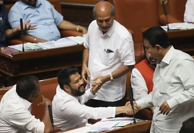 4 'rebel' Congress MLAs attend Karnataka assembly session