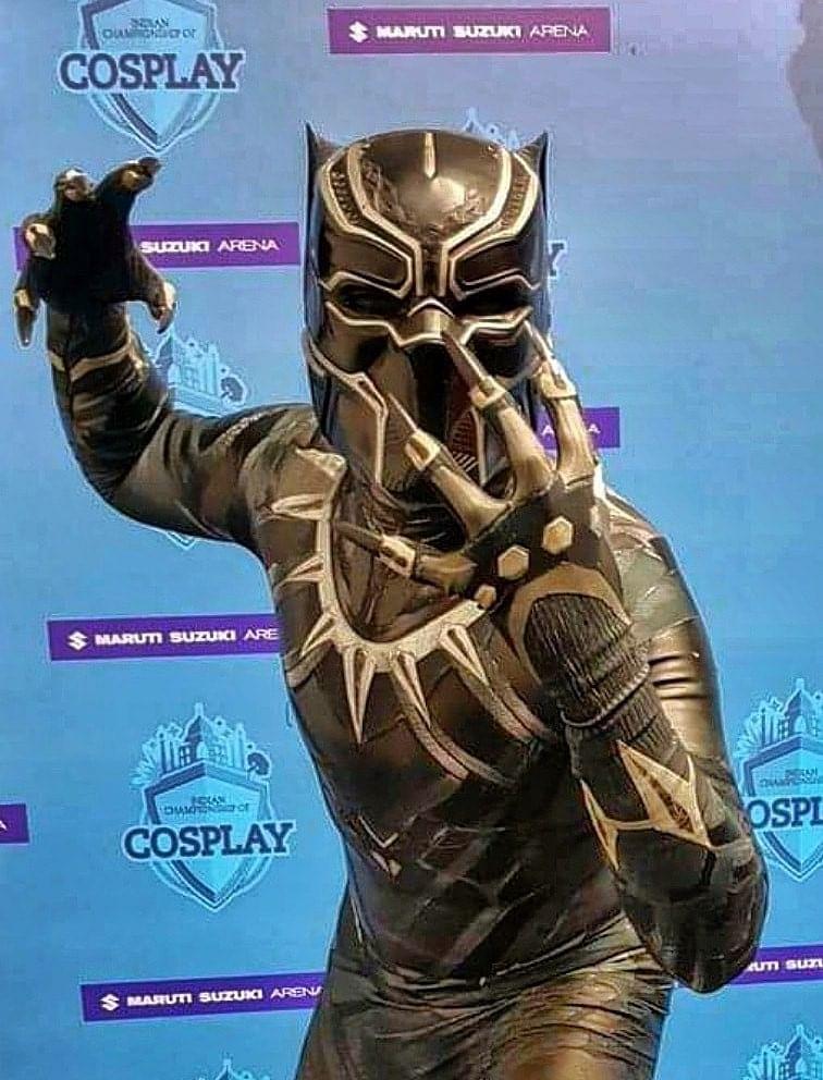 Indian Cosplayer Gaurav Thakur as Black Panther