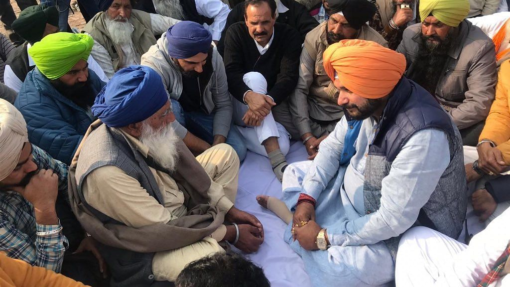 Navjot Singh Sidhu went family members of jawans martyred in the Pulwama attack.