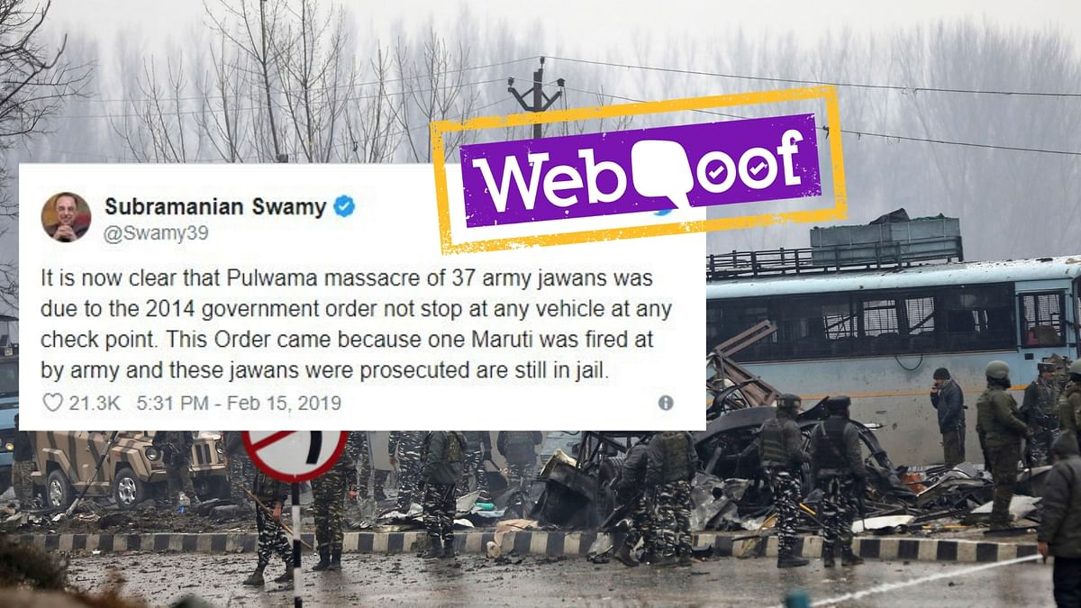 A senior officer who served in the Army in 2014 confirmed that news of the jawans being jailed is 'fake'.