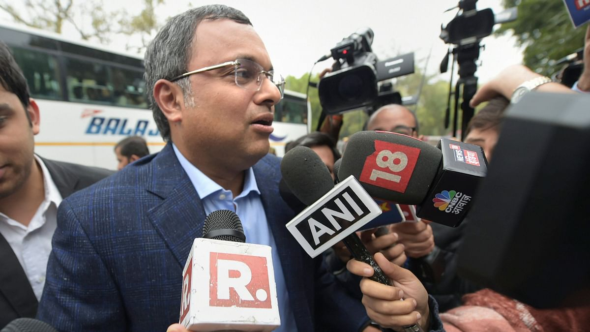 Karti Chidambaram Appears Before ED in Money Laundering Case Probe