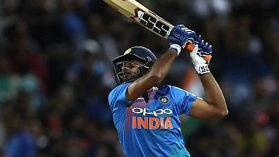 Vijay Shankar (43 off 28) played a useful knock though at the top after Shikhar Dhawan (5) fell early.