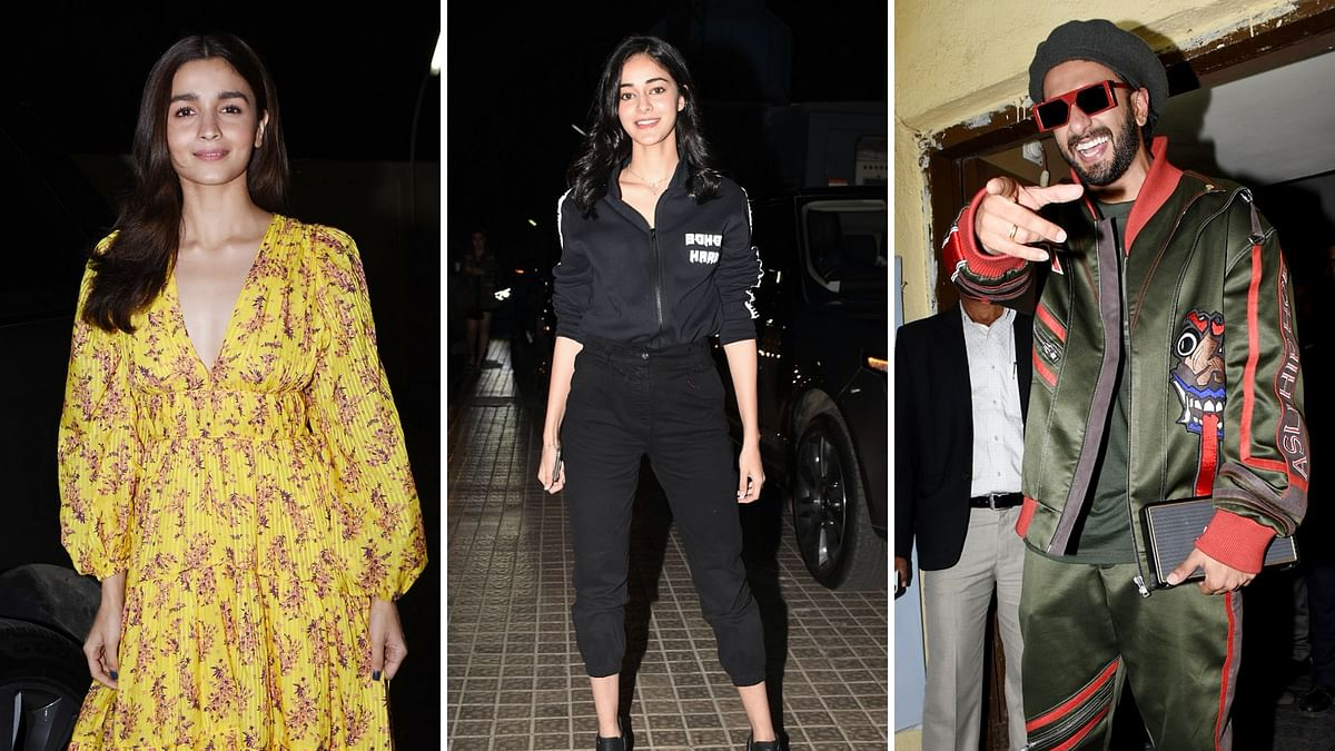 In Pics: B-Town Attends Special Screening of 'Gully Boy'