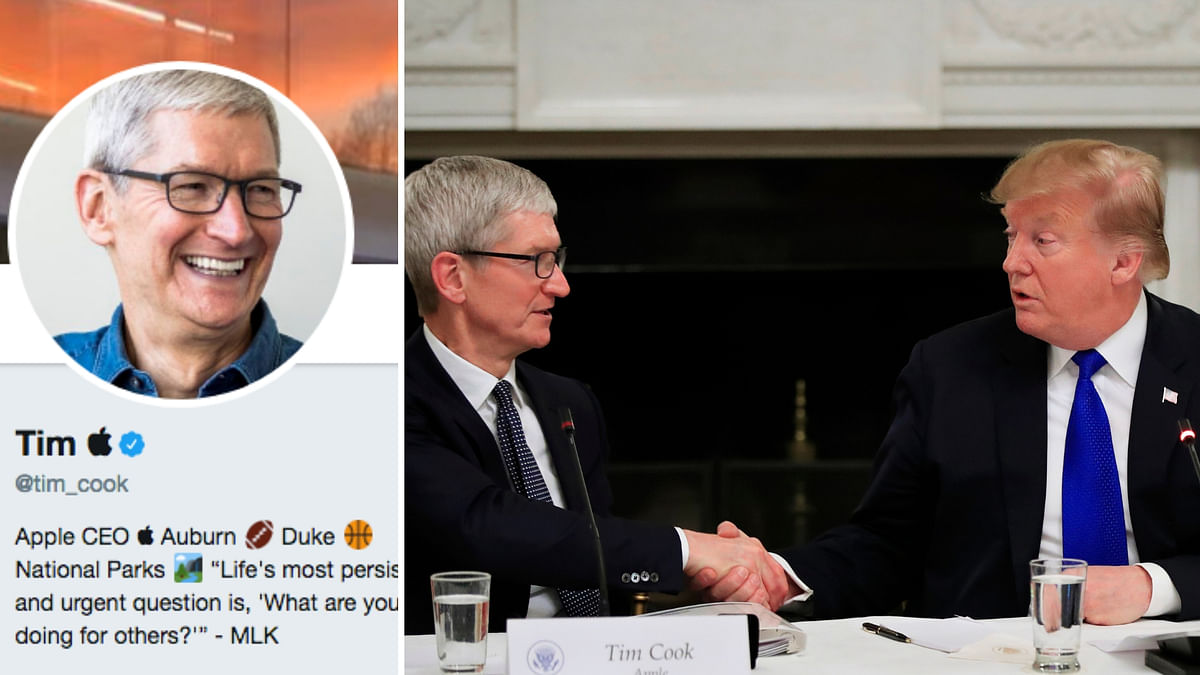 Trump while referring to the CEO of Apple Inc, Tim Cook called the Apple CEO 'Tim Apple.'