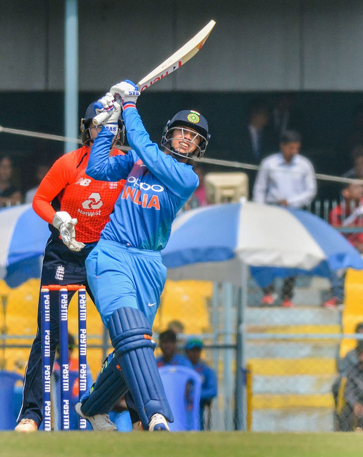 Smriti Mandhana's wicket was important for England as the opener had powered India to 24 for no loss in 2.3 overs.