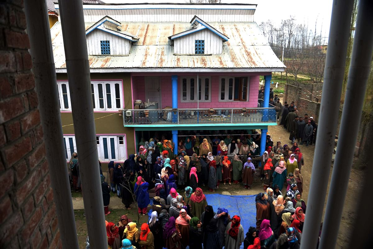 Women present at Rizwan's house in Awantipora.