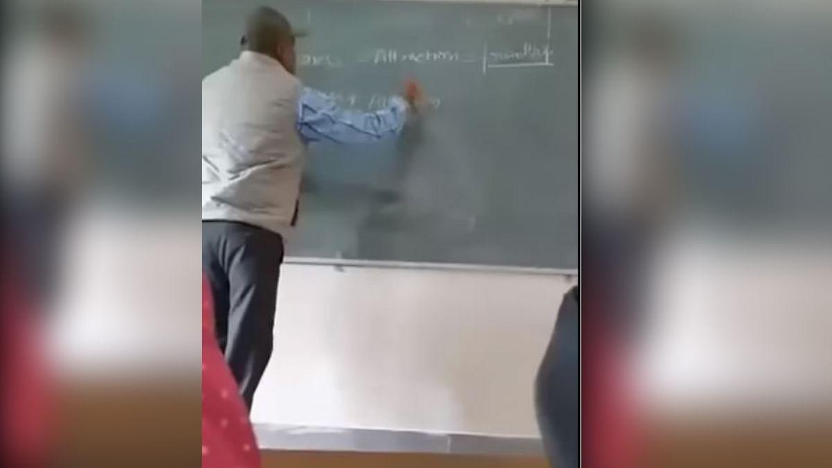 Math professor Charan Singh teaching his 'love formulae'