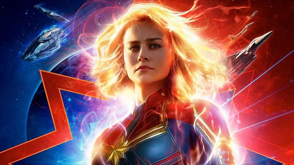 Brie Larson in and as <i>Captain Marvel.</i>