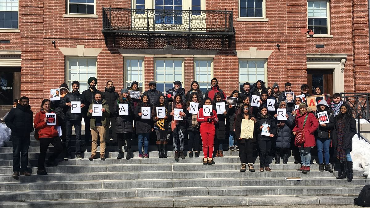 The Brown Peace Standout was organised by the students of Brown University, who called for peace between India and Pakistan.