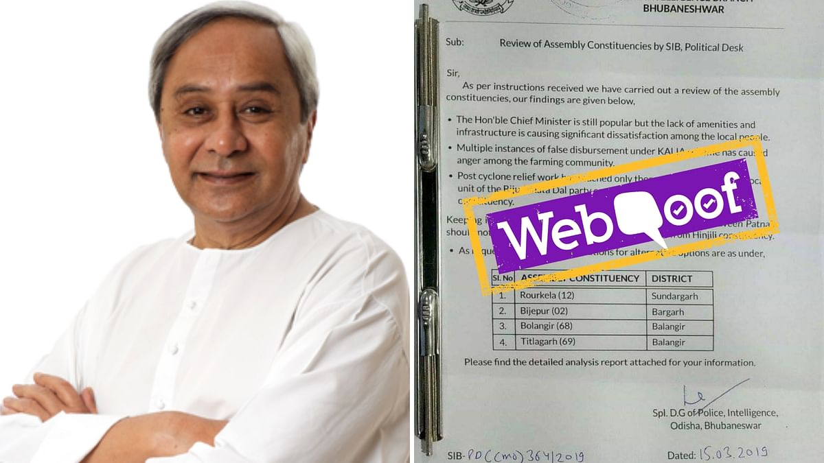 The report also provides a list of viable options that CM Naveen Patnaik should rather contest from rather than Hinjili.