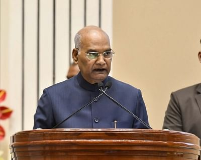 New Delhi: President Ram Nath Kovind addresses at the Swachh Survekshan Awards 2019, in New Delhi, on March 6, 2019. (Photo: IANS/PIB)