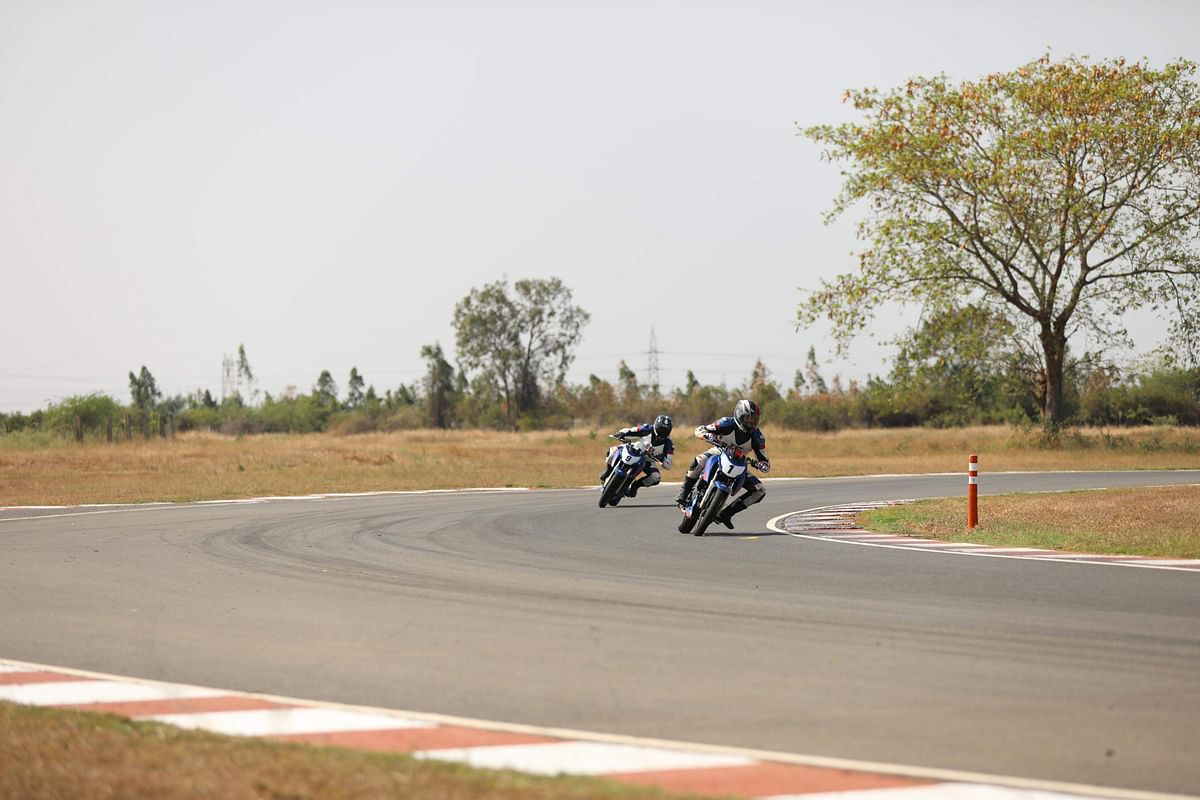Trainees were given three laps to get their best lap time.