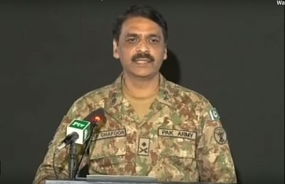 DG ISPR Maj Gen Asif Ghafoor. (Screen Grab: ISPR Official/YouTube)