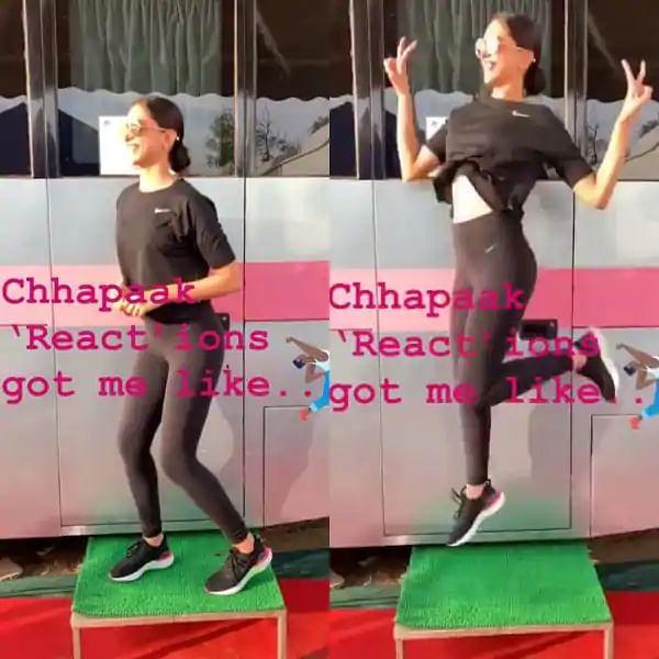 Deepika reacts to her praises.