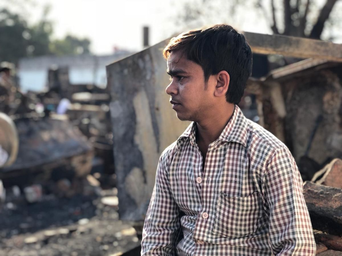 Tahir wants the government to construct new houses for the residents of the slum.