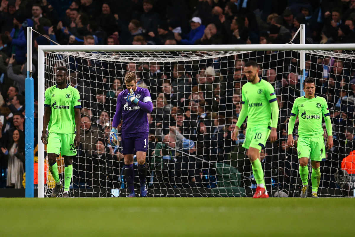 Certainly Schalke was in no shape to stop Manchester City.
