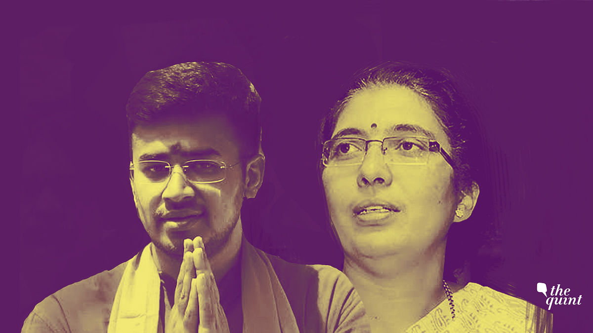Tejasvi Surya and Tejaswini Ananth Kumar