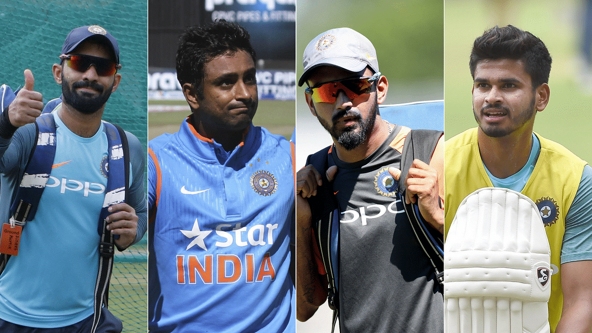 Dinesh Karthik, Ambati Rayudu, KL Rahul and Shreyas Iyer are all in contention for the number four slot at the World Cup.