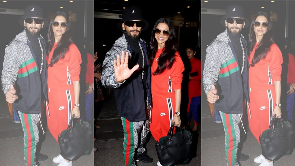 Pics: Ranveer Singh, Deepika Padukone Fly to London for '83' Shoot