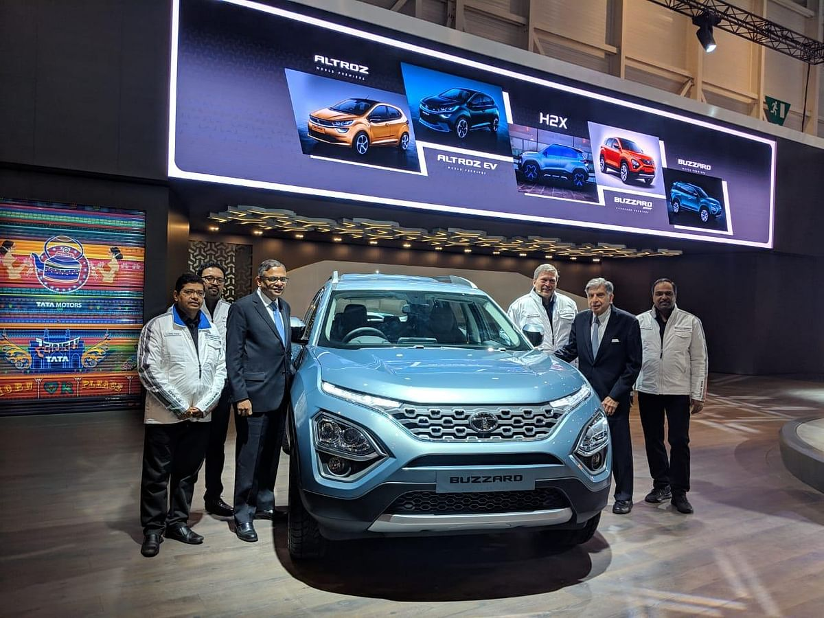 The Tata Buzzard is the seven-seater version of the Tata Harrier.