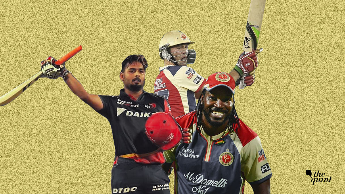 Chris Gayle, AB de Villiers and Rishabh Pant are among the cricketers with the highest scores in IPL.