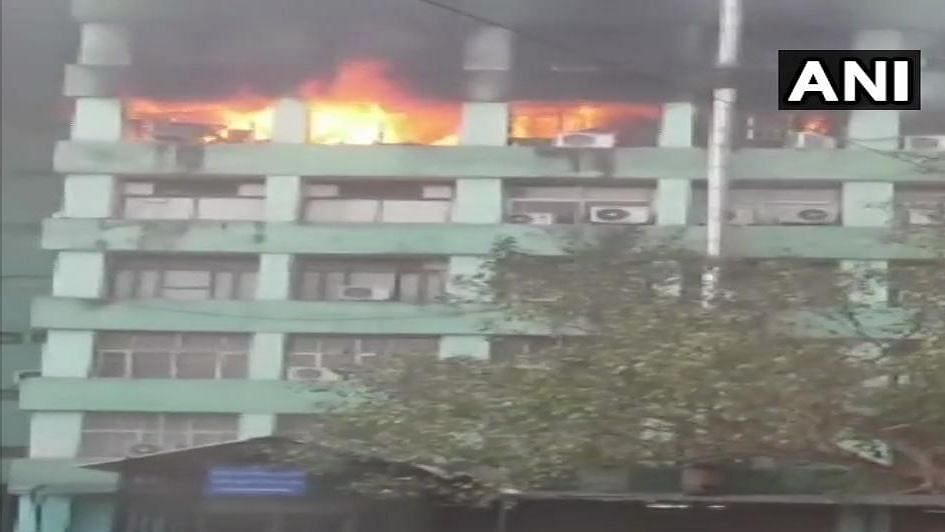 A fire broke out on the fifth floor of Pandit Deendayal Antyodaya Bhawan at CGO Complex in Delhi on Wednesday morning.
