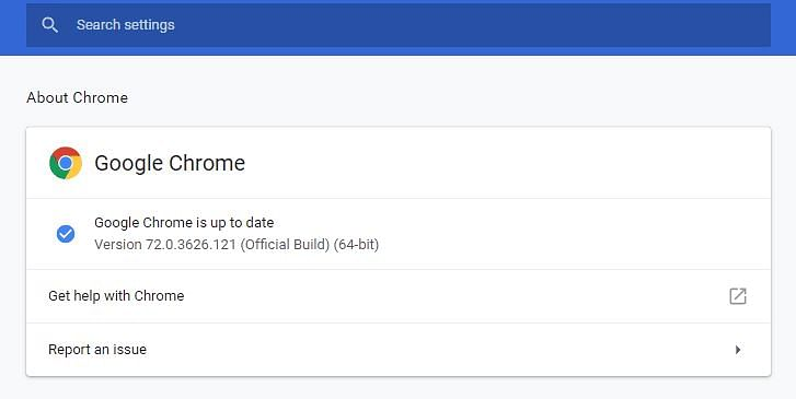 The security update released by Google Chrome last week.