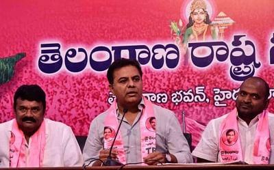Telangana Rashtra Samithi (TRS) working president KT Rama Rao. (Photo: IANS)