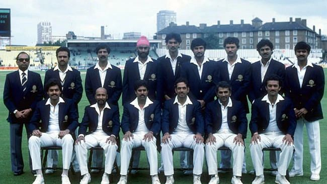 File picture of the Indian sqaud at the 1983 World Cup.