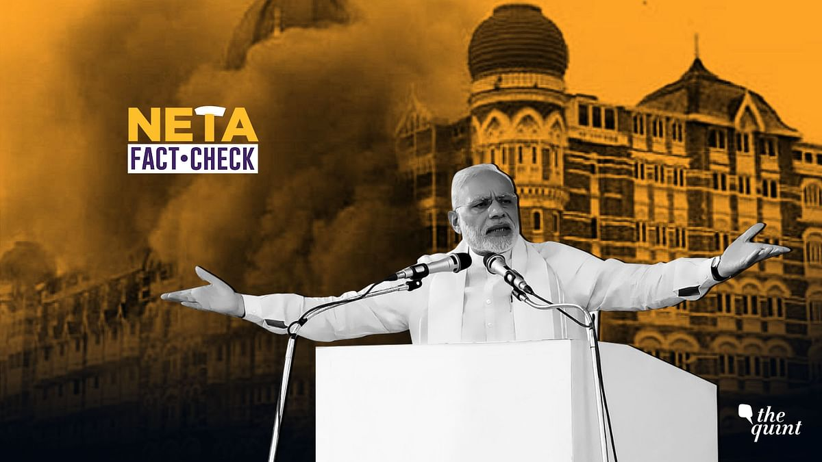 """Modi Claims """"UPA Took No Action After 26/11"""", But Is That True?"""