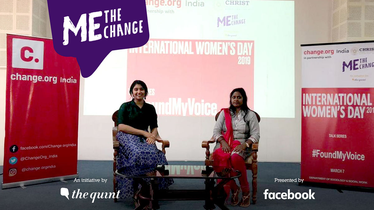 The event was part of the 'She Creates Change' initiative, which aims to build a community of women changemakers.