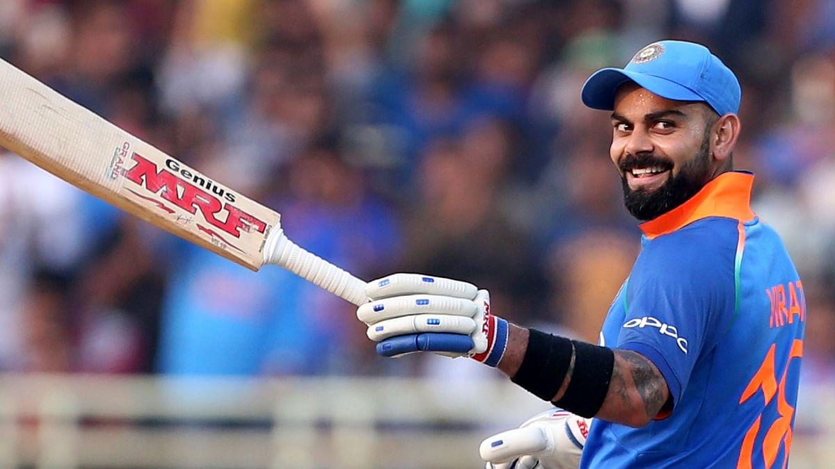 Virat Kohli scored a half century in the second ODI against Australia in Nagpur.