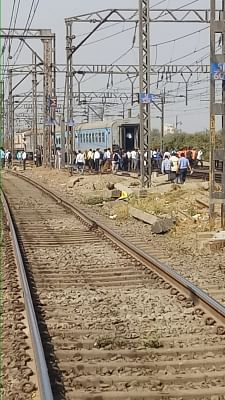 Thane: Coaches of Manmad-Mumbai Panchavati Express after its engine got uncoupled and started moving ahead, leaving the rest of the train behind, near Kalyan station in Maharashtra