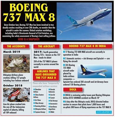 Boeing 737 Max 8. (IANS Infographics)