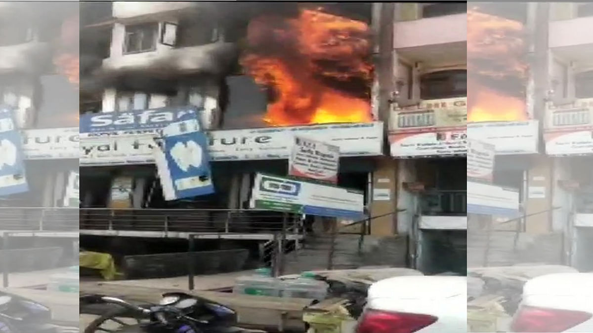 2 Minors Die As Fire Breaks Out in Furniture Shop in Shaheen Bagh