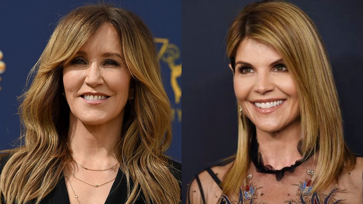 Actresses Felicity Huffman (left) and Lori Loughlin charged over amulti-million dollar scam to help children of the American elite cheat their way into top universities.