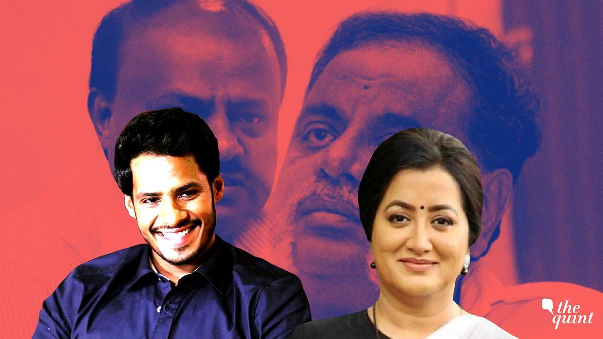 Kannada actor and former Congress MP MH Ambareesh's wife Sumalatha has become roadblock for CM Kumaraswamy's son Nikhil Gowda in Mandya.