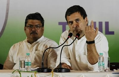 Chennai: Congress President Rahul Gandhi addresses a press conference in Chennai, on March 13, 2019. (Photo: IANS)