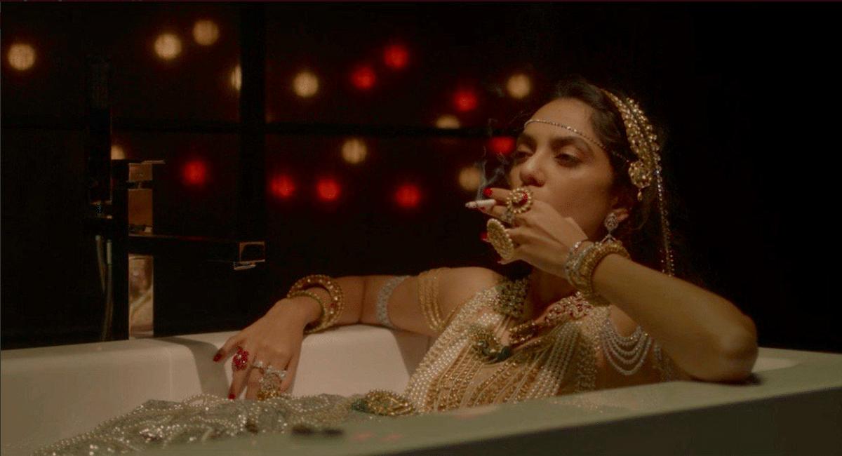 The iconic bathroom scene in Amazon's <i>Made in Heaven</i>, featuring Sobhita Dhulipala.
