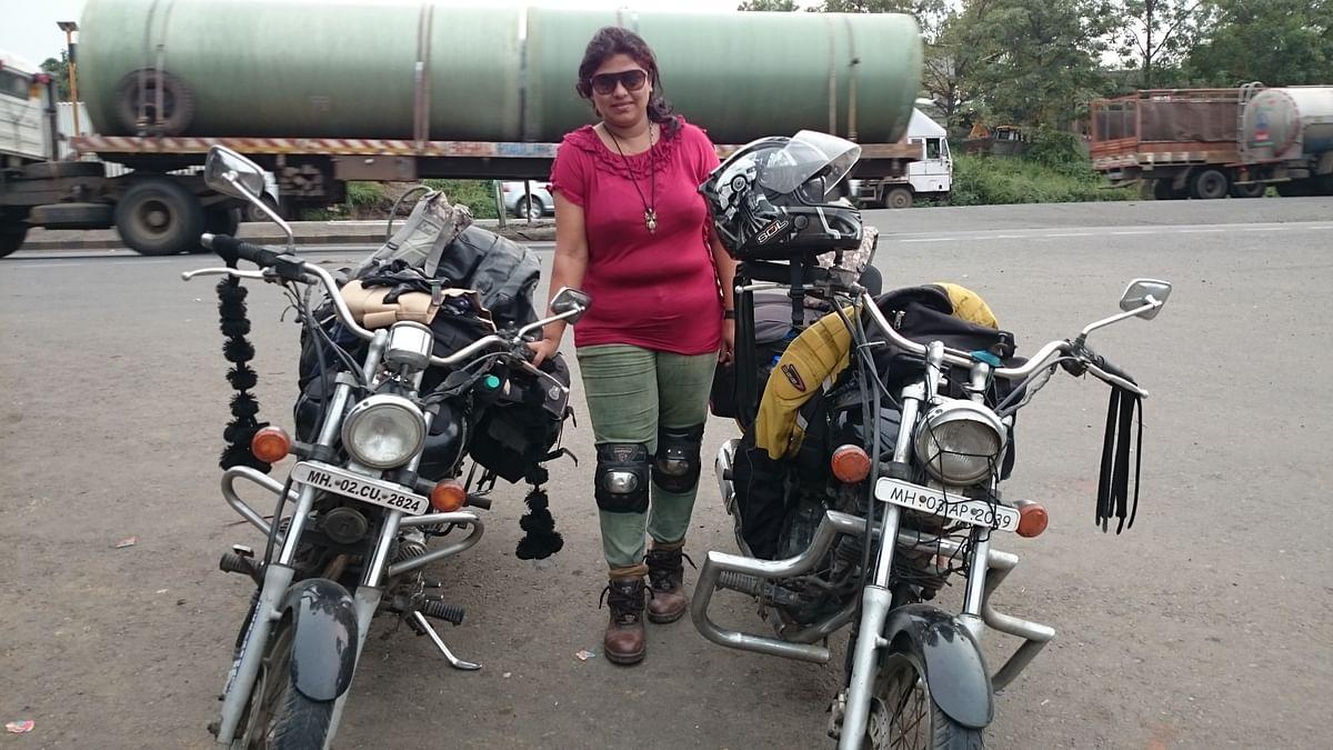 Harshini is an avid biker.