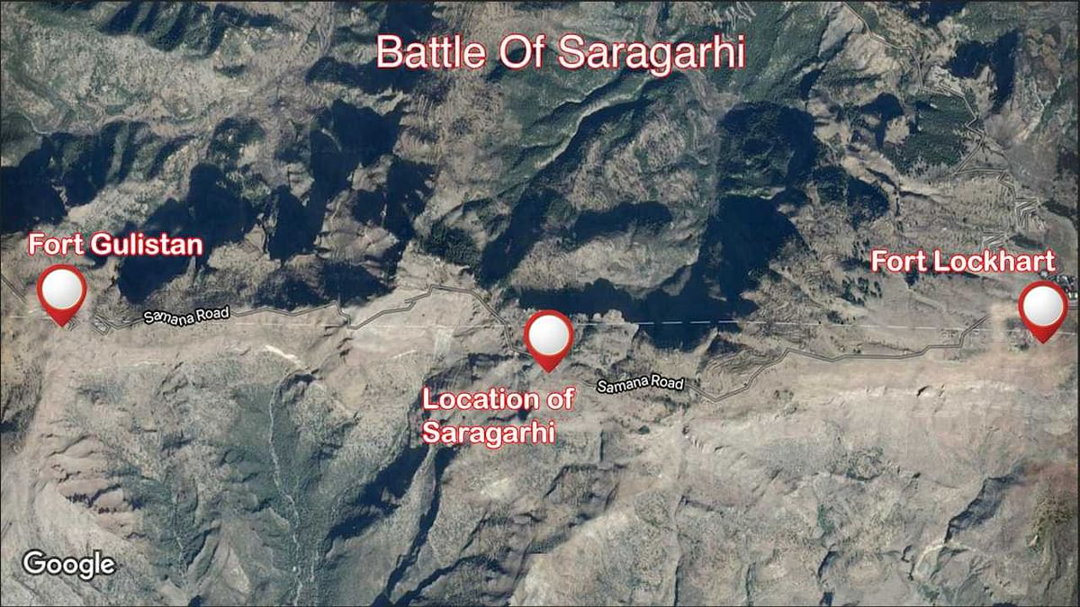 The Saragarhi post was created at a point between the two forts to prevent the violent Pashtuns from attacking the British personnel.