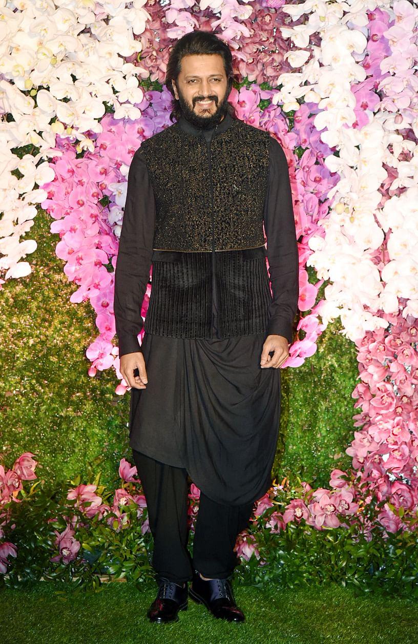 Bollywood actor Riteish Deshmukh.