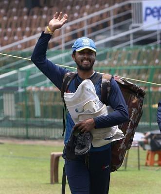 Dinesh Chandimal. (Photo: Surjeet Yadav/IANS)