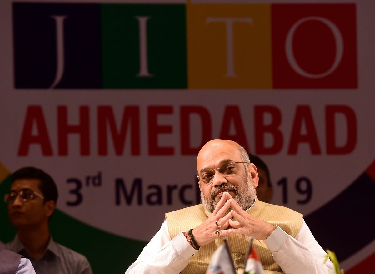 BJP President Amit Shah at an event in Ahmedabad.