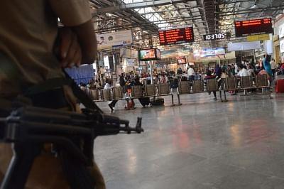 Mumbai: Security beefed up at CST Railway Station on 8th anniversary of 26/11 Mumbai terror attacks in Mumbai on Nov 26, 2016. (Photo: IANS)