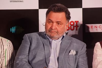"""Mumbai: Actor Rishi Kapoor at the song launch of his upcoming film """"102 Not Out"""" in Mumbai on April 19, 2018. (Photo: IANS)"""