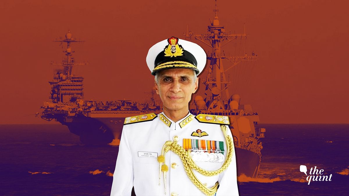 File image of Navy Chief Admiral Karambir Singh.