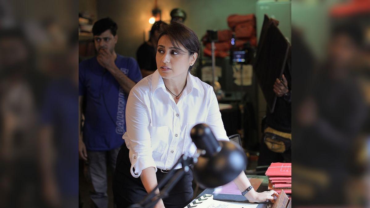 Rani Mukerji as police inspector Shivani Shivaji Roy on the sets of <i>Mardaani 2</i>.