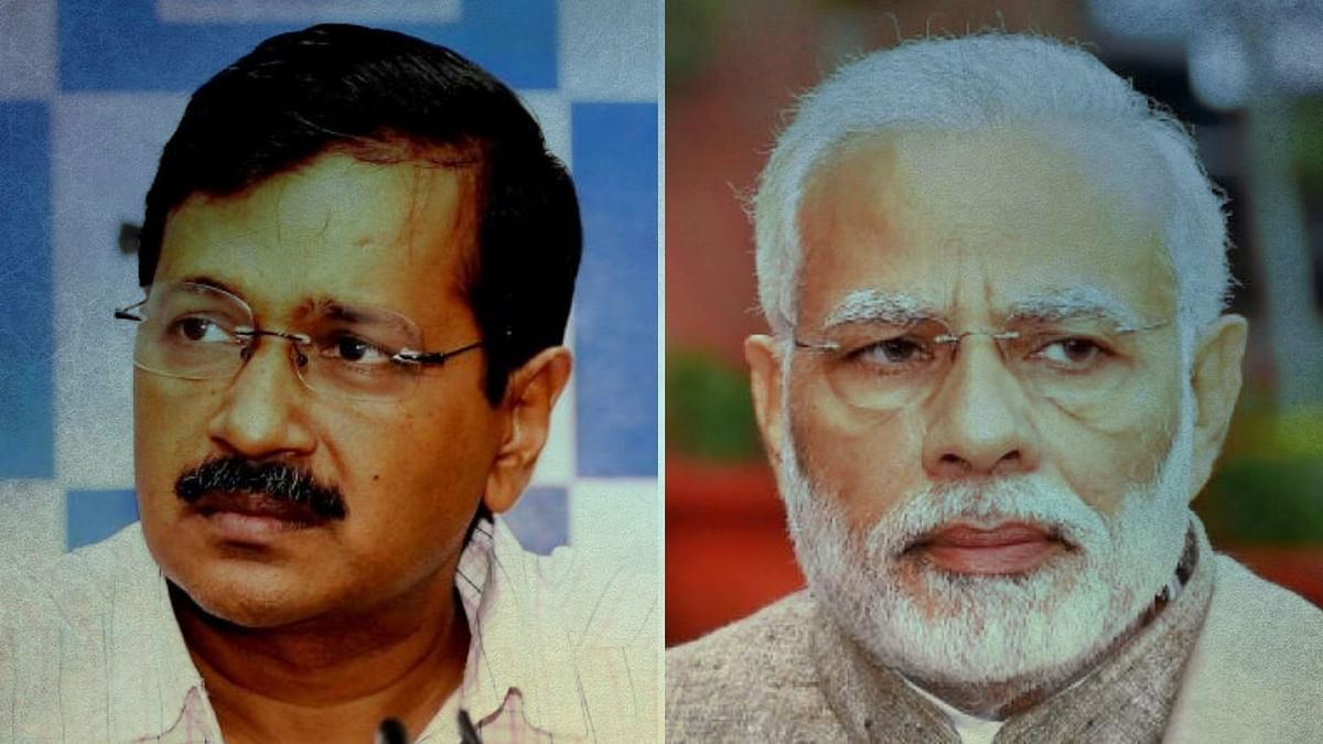 AAP Chief and Delhi CM Arvind Kejriwal (left) and Prime Minister Narendra Modi