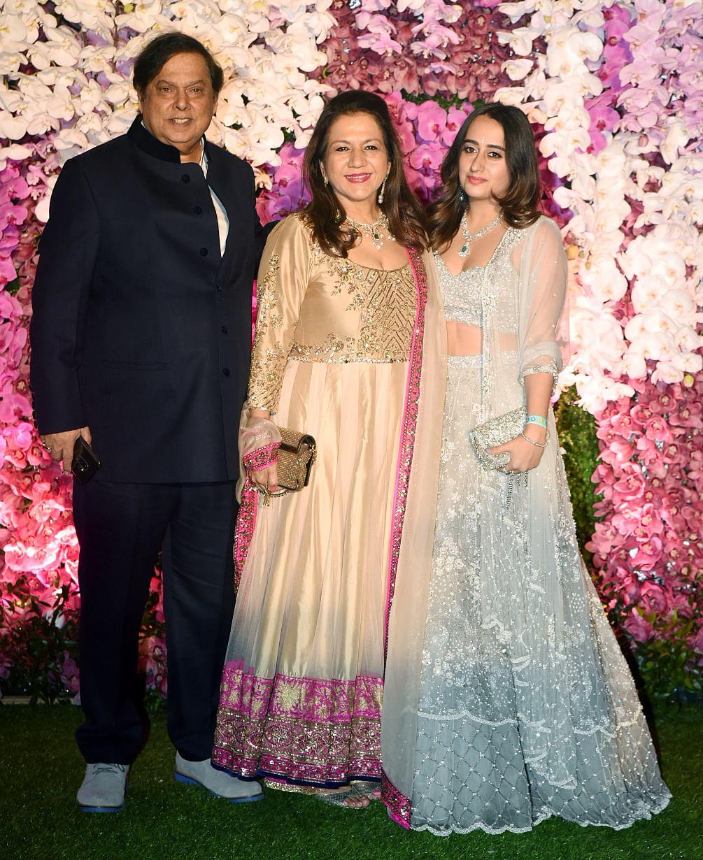 David Dhawan arrives with Karuna Dhawan and Natasha Dalal.